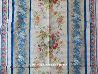 19世紀末 アンティーク  シルク製 ファブリック ほぐし織 69×74cm
