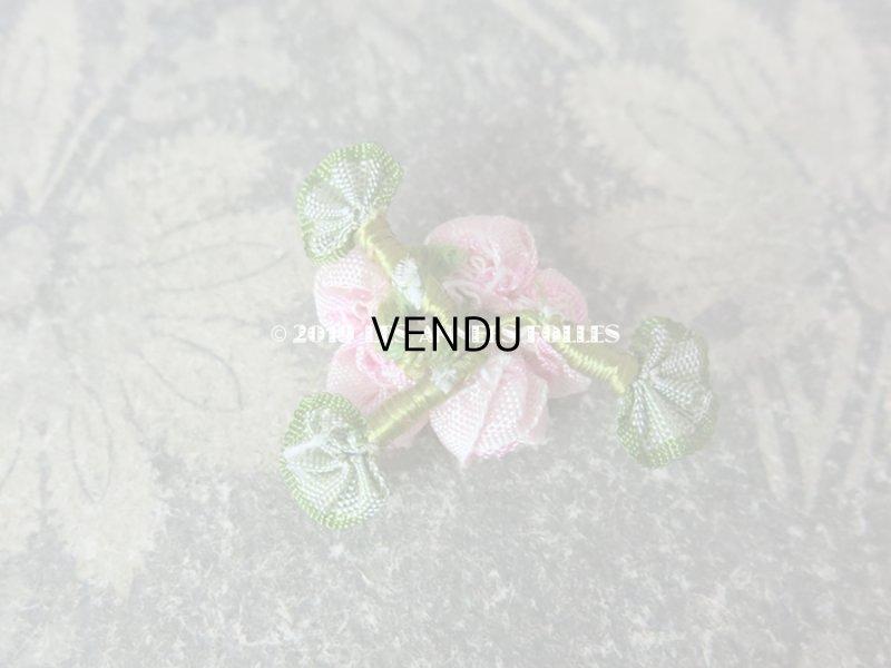 画像2: アンティーク ピンクの小さな薔薇のロココモチーフ