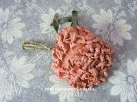 1920年代 アンティーク ロココ調  薔薇のモチーフ ピンク・オレンジ