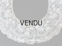 19世紀末 アンティーク ニードルレース ポワンドローズ 付け襟・ドレス・ケープの裾 107cm 【ポワン・ド・ガーズ】 【ポワン・ド・ローズ】