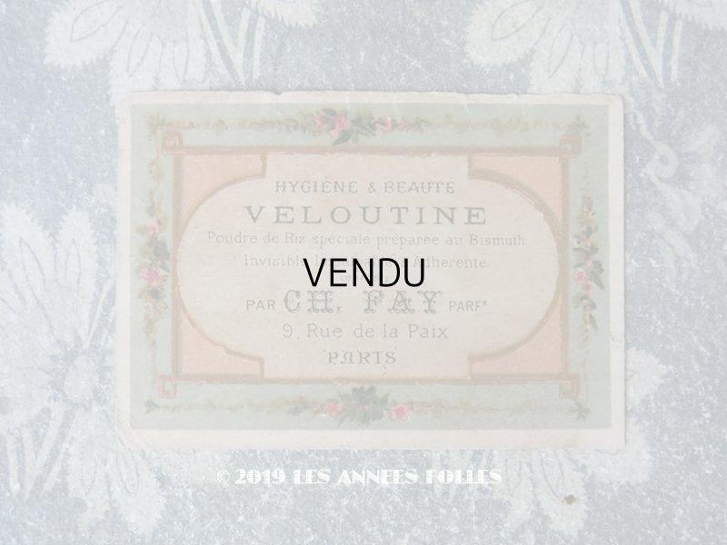 画像1: アンティーク パフュームカード VELOUTINE - CH.FAY PARIS -