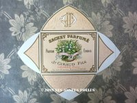アンティーク 鈴蘭のパフュームラベル SACHET PARFUME AU MUGUET DES ALPES - JN.GIRAUD FILS -