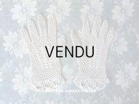 アンティーク 少女の小さな手袋 クロシェ編み グローブ