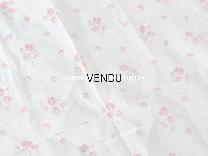 画像3: アンティーク 小さな薔薇模様のファブリック 48×86cm