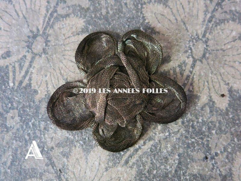 画像2: アンティーク 薔薇のモチーフ メタルファブリック