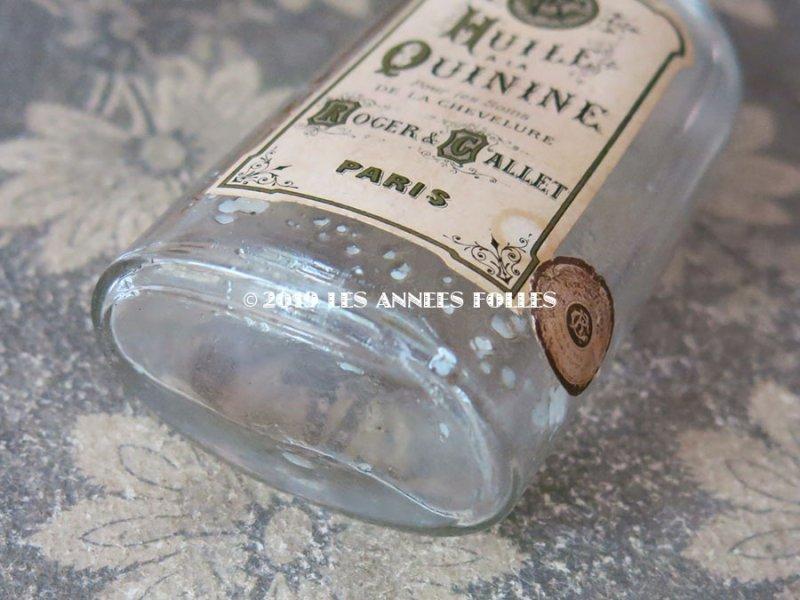 画像5: アンティーク パフュームボトル HUILE A LA QUININE POUR LES SOINS DE LA CHEVELURE - ROGER&GALLET PARIS - (137)