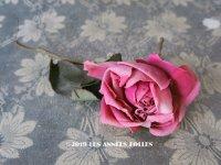 1900年代 アンティーク 薔薇の布花 (8)