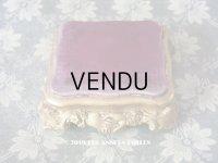 19世紀末 アンティーク マリアージュの台座 紫のベルベット