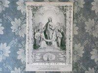 19世紀末 アンティーク 版画 キリストと天使達 21.4×15cm