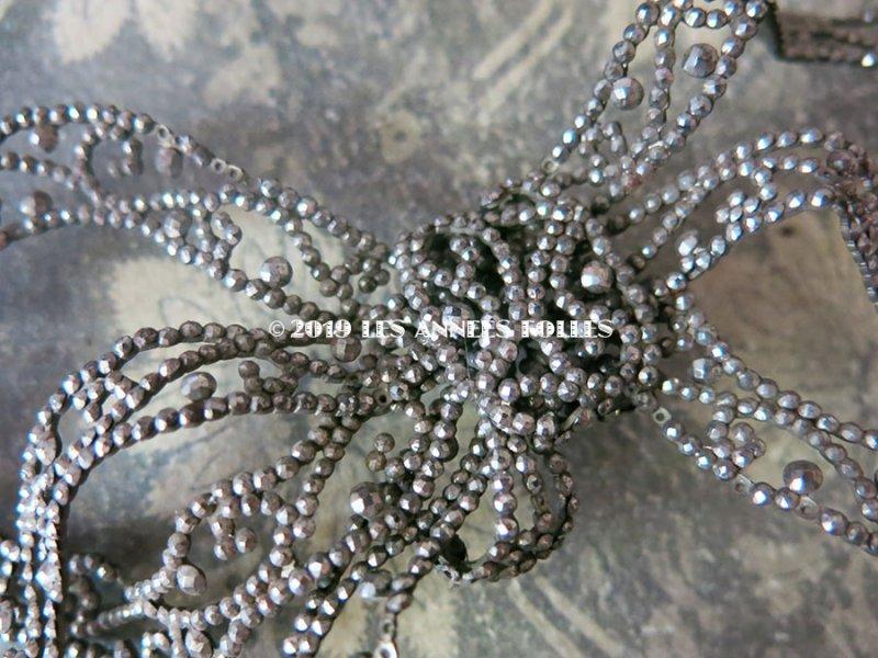 画像2: アンティーク カットスチールの大きなリボンモチーフ  ドレス用
