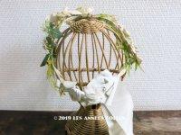 19世紀 アンティーク ナポレオン3世時代 布花のヘッドリース
