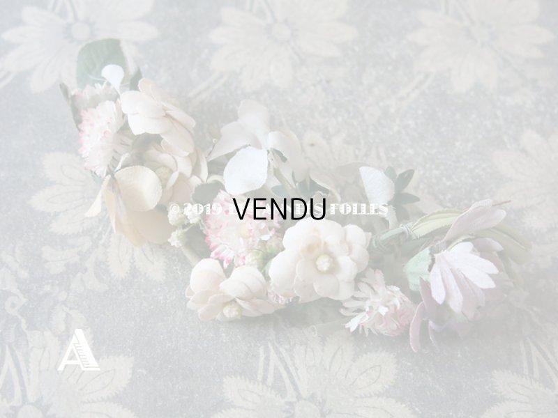 画像2: アンティーク 草花のリース ドールハット用