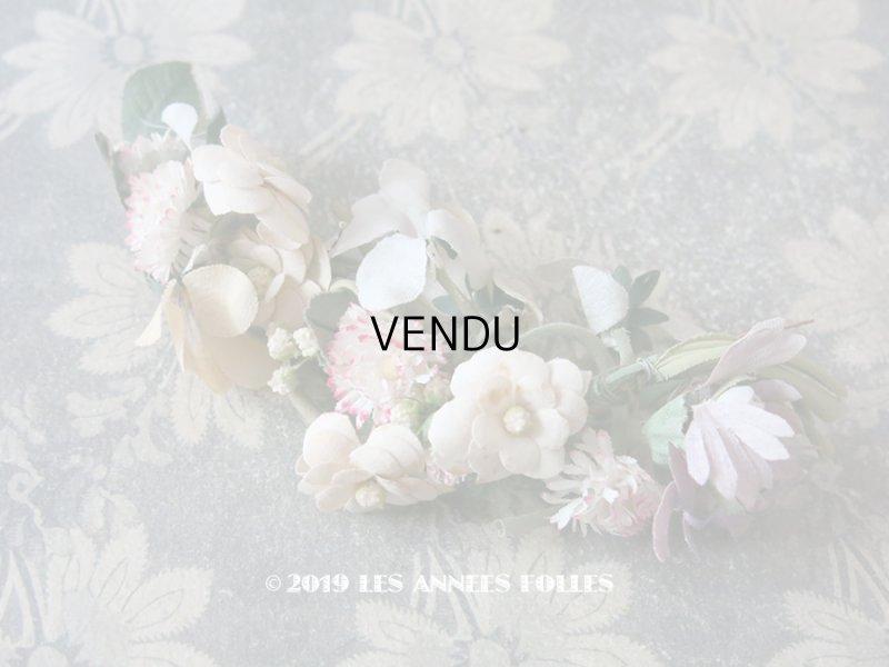 画像1: アンティーク 草花のリース ドールハット用