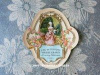 アンティーク パフュームラベル 薔薇 EAU DE COLOGNE VIEILLE FRANCE - LORENZY PALANCA PARIS -