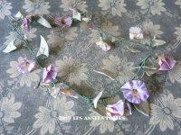 アンティーク 昼顔の布花のリース