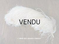 19世紀末 アンティーク 大きなフェザー オフホワイト 羽飾り