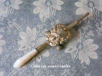 19世紀 アンティーク ラトル ベルメイユ シルバー製 ゴールドコーティング マザーオブパールのハンドル