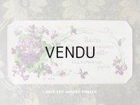 アンティーク 菫のソープラベル SAVON AUX FLEURS FRAICHES DE VIOLETTE - G.LEMOINE PARIS -
