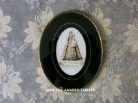 19世紀 アンティーク 聖母マリア&幼いキリストのガラスフレーム