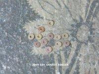 19世紀末 アンティーク メタル製 極小 3mm スパンコール シルバー オーロラ加工 200ピースのセット