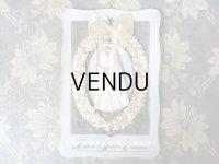 アンティーク  初聖体 大きなカニヴェ コミュ二オンの少女 シルクシフォンのリボン