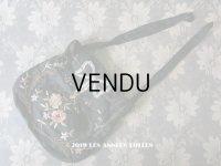 19世紀 ナポレオン3世時代 アンティーク リボン刺繍 & 糸刺繍のオモニエール シルク製