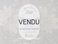 アンティーク パフュームラベル EAU DE LAVANDE - E.FRANCOIS & CHORIER PARIS -