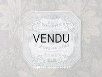 アンティーク パフュームラベル EAU DE TOILETTE - F.MOREAU & FILS LYON -