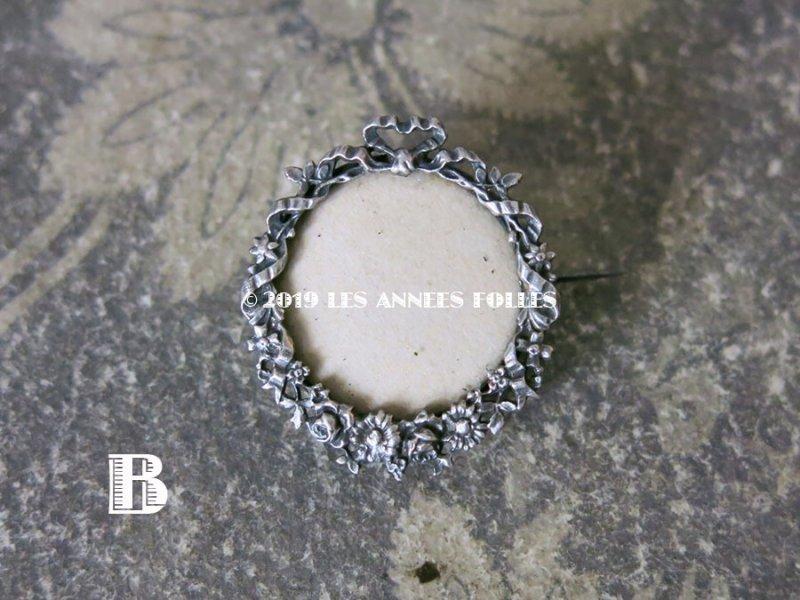 画像4: アンティーク リボンと花のガーランド フォトフレームのブローチ