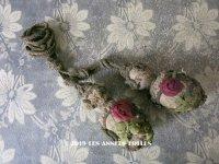 【クリスマスセール2019対象外】 19世紀末 アンティーク 薔薇のロココモチーフ付 タッセル