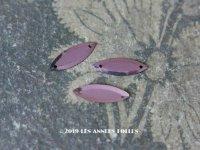 【クリスマスセール2019対象外】 19世紀末 アンティーク メタル製 5.5×14mm 立体 スパンコール 薄紫 20ピースのセット