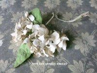 アンティーク 紫陽花の布花 コサージュ