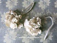 アンティーク 紫陽花の布花 コサージュ 2点セット