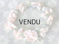 19世紀末 アンティーク 淡いピンクの薔薇のヘッドリース ティアラ