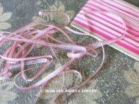 アンティーク  リボン刺繍 & ロココトリム用 シルク製 リボン 4mm幅 淡いピンク 10m