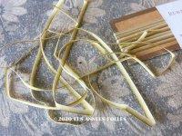 アンティーク  リボン刺繍 & ロココトリム用 シルク製 リボン 4mm幅 カーキ色 5m RUBANS TRIANON POUR BRODERIES DE STYLE NUANCE 11