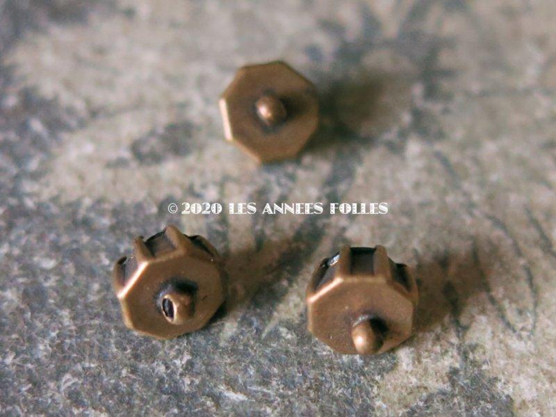 画像3: アンティーク ドール用 極小 グリーン カット入りガラスのボタン 7mm (ピース売り)