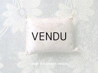 19世紀末 アンティーク  シルク製 小さなクッション 淡いピンク   A L'URANIE JB & Cie