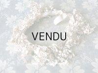 アンティーク ホワイトライラックの花冠 ヘッドリース ウェディング 結婚式 ティアラ