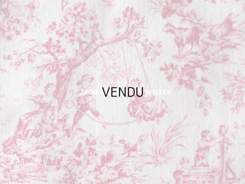 画像2: アンティーク 小さな絵柄 トワル・ド・ジュイ コットン製ファブリック