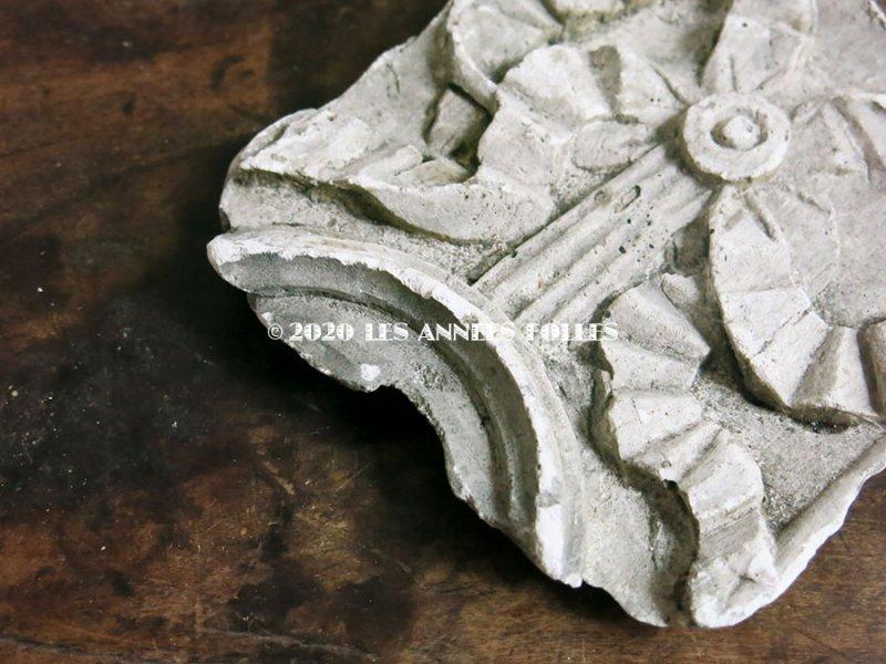 画像4: 1900年代 アンティーク 石膏のオーナメント リボン