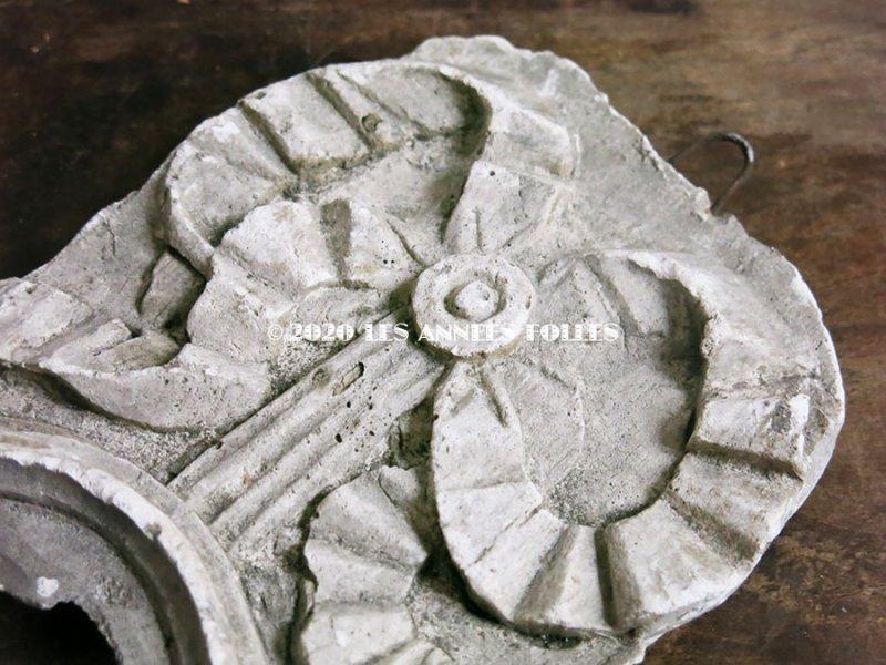 画像3: 1900年代 アンティーク 石膏のオーナメント リボン