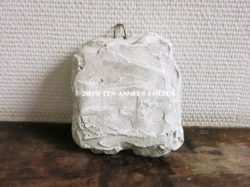 画像2: 1900年代 アンティーク 石膏のオーナメント リボン