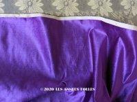 19世紀末 アンティーク ファブリック シルク製 ベルベット 紫