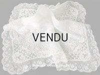 19世紀 アンティーク  結婚式のハンカチ イニシャル【CH】 ホワイトワーク & 手編みのヴァランシエンヌレース