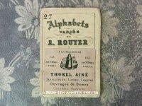 19世紀末 アンティーク ニードルケース用クロスステッチの図案帳 ALPHABETS VARIES DE A.ROUYER - THOREL AINE -