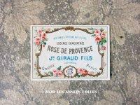 アンティーク 薔薇のパフュームラベル ROSE DE PROVENCE - JN.GIRAUD FILS -