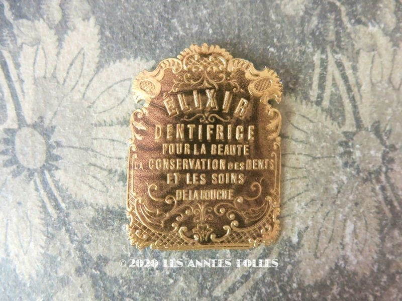 画像1: 1900年代 アンティーク パフュームラベル ELIXIIR ロカイユ装飾