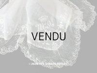 【10周年セール対象外】 19世紀 アンティーク  結婚式のハンカチ イニシャル【MA】 ホワイトワーク & 手編みのレース