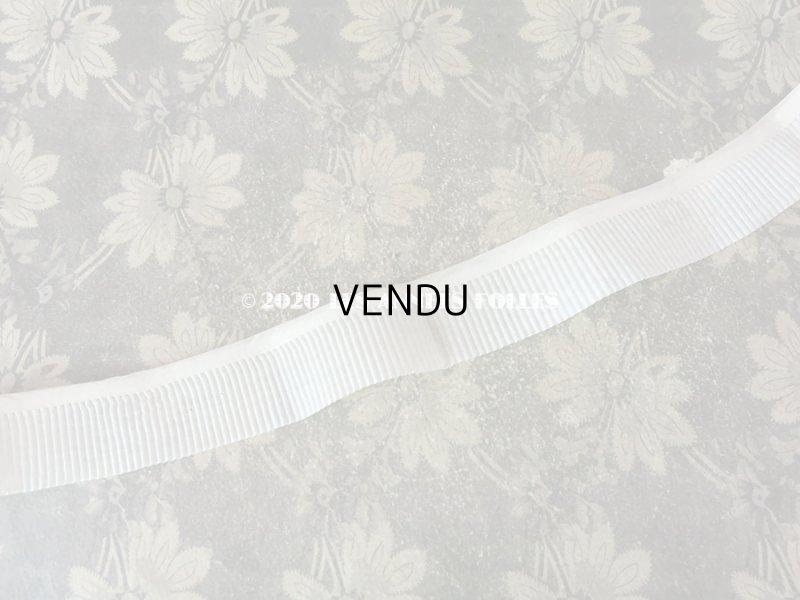 画像2:  アンティーク プリーツ リボン 1m コットンオーガンジー ホワイト 3.9cm幅